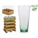 konisches Glas recycelt
