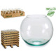 recycled glass fish tank 18cm diameter