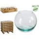 vasca da pesca in vetro riciclato diametro 14 cm