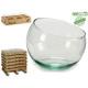14 cm funktionelles Aquarium aus recyceltem Glas