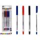 set of 4 pens 14,5cm cap 3 colors