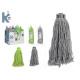 cotton mop 200gr color, 3 times assorted colour