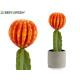 ampio fiore in plastica cactus arancio 40cm
