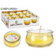 pot de bougie basse citronnelle