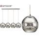 linear silver quadruple ball lamp