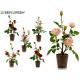 pink plastic flower pot 3 flowers 41cm surt6