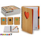 bambu notepad 12x16cm poker colors 4 times assorte