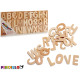 set of letters 104 pieces natural wood