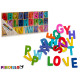 set of letters 104 pieces wood multicolors