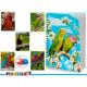 notebook a4 cap 3d parrots 6 times assorted 196 pa