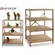Display 4 shelves wood color wood