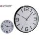 reloj redondo 32cm liso surtido blanco negro