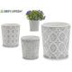 Keramik Topf grau Sortiment 4 Designs
