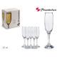 Set mit 6 Champagnergläsern 21 cl imperial