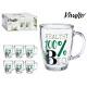 glass mug jug 32cl 100% bio