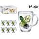 glass mug jug 32cl be wild