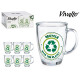 jug mug glass 32cl recycle