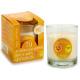 Glaskerzenglas 30h Orange und Zitrone