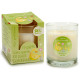 glass candle glass 30h green apple