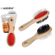 double brush mascot handle wood
