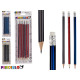 set of 5 pencils with rubber, 4 times assorted