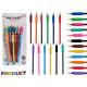 uppsättning av 12 träfärgade pennor