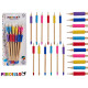 Satz von 12 Stiften sortiert Farben