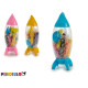 set of plasticine and rocket molds, colors 3