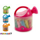 set of plasticine and molds watering can colors 3