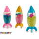set of magic sand and rocket molds colors s