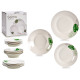 porcelain tableware 18 pieces tropical