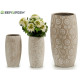 cement vase flowers whitened 3 times its