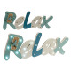 wooden sign relax rope 20 leds