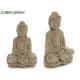buddha che medita pietra candeggiata