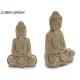 Bouddha méditant pierre blanchie moyenne