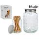 multi-purpose glass jar lid steel 5l