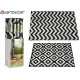 outdoor rug black white, 2 times assorted