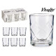 set of 6 water glasses rhombs 6x26cl