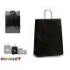 medium black paper bag
