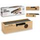 wooden box slate slate and knife