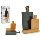 set of 2 slate boards and rectangular bamboo