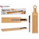Brett geschnittenes Brot Bambusgriff und Messer