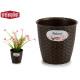 vaso di fiori naturale inter / exter 14diam chocol