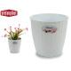 natural flowerpot inter / exter 19diam white