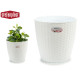 pot de fleurs naturel inter / exter 29diam blanc