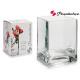 vase en verre botanique 12,5x12,5x16cm