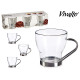 set of 3 coffee cups cut 20cl