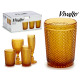 amber water glass 30cl