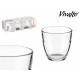 set of 6 glasses cut 15cl
