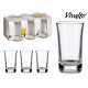 set of 6 glasses shot 5cl